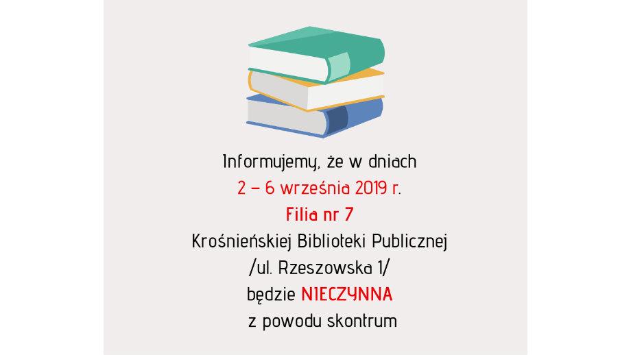Informacja o skontrum w Filii nr 7