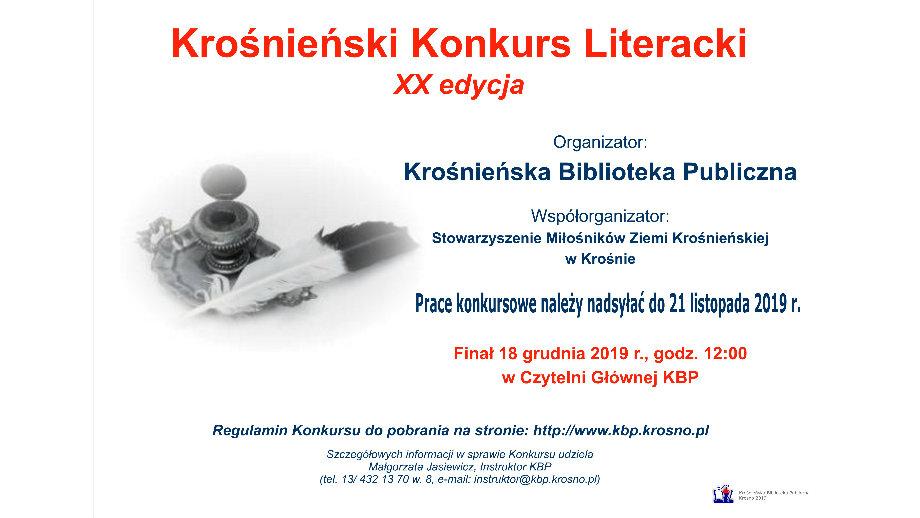 XX Krośnieński Konkurs Literacki