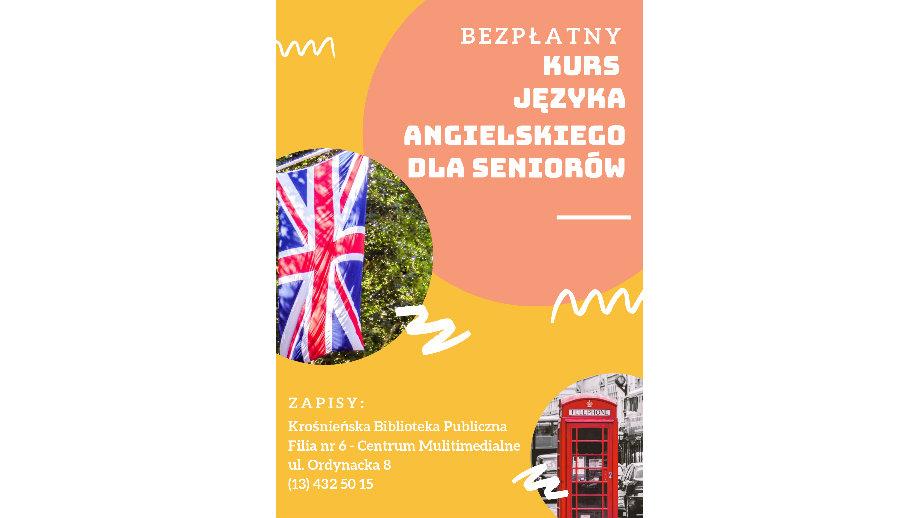 Bezpłatny kurs języka angielskiego dla seniorów! Pierwsze zajęcia w październiku
