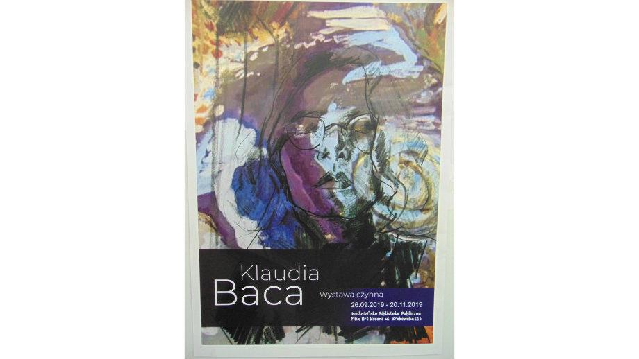 Wystawa prac Klaudii Bacy w Filii nr 4 Krośnieńskiej Biblioteki Publicznej