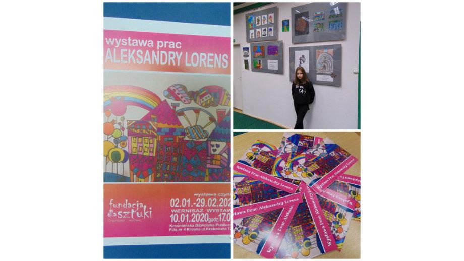 Wystawa prac Aleksandry Lorens w Filii nr 4 KBP