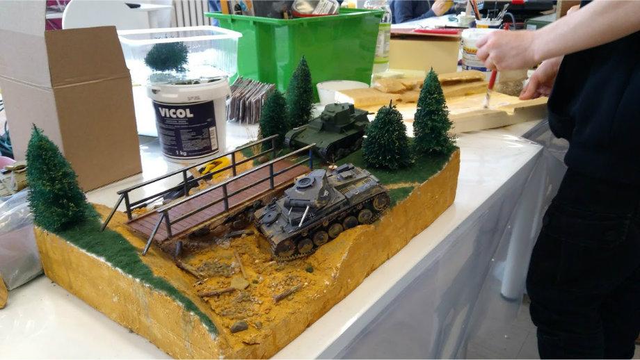 Makiety i dioramy w Oddziale dla Dzieci