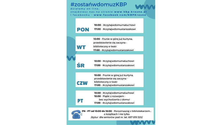 #zostańwdomuzKBP – Krośnieńska Biblioteka Publiczna online!