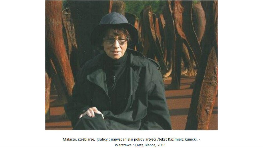Magdalena Abakanowicz. Artystka o niepowtarzalnym i rozpoznawalnym stylu.