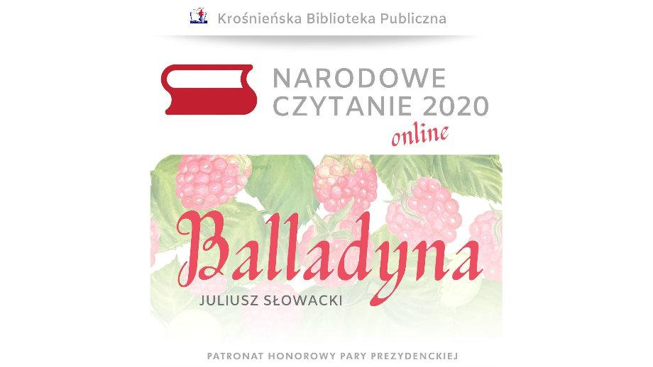 Narodowe Czytanie 2020 w Krośnie... online