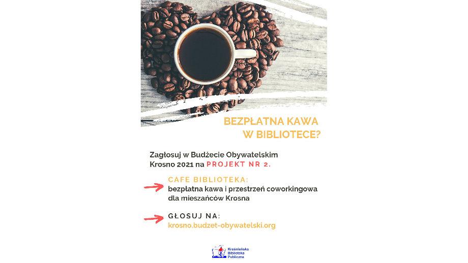 Bezpłatna kawa w bibliotece - KBP w Budżecie Obywatelskim 2021. Zagłosuj!